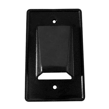 Low-Volt Cable Plate, 1G, Blk ARLCE1BL