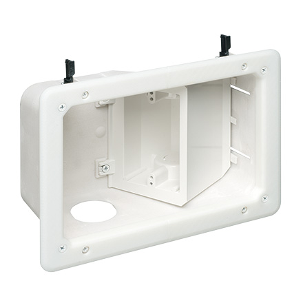 TVB712 RECESSED TV BOX, WHITE ARLTVB712