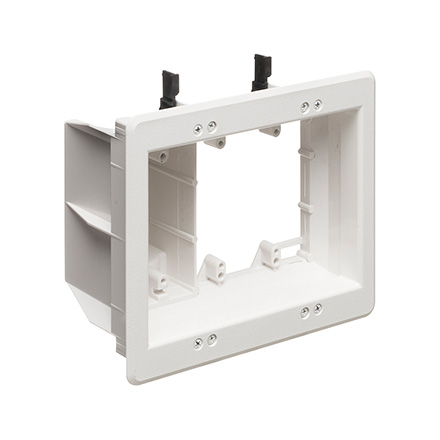 Arlington Model TVBR507 Triple Gang Recessed Electrical Box for Power & Low Voltage ARLTVBU507
