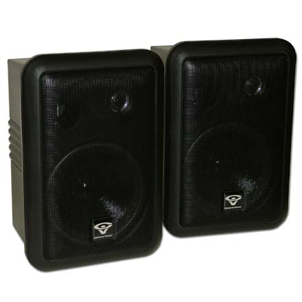 Cerwin Vega SDS-525B-T Pro Audio 5-1/2in Weather Resistant Speakers, pair, black, Includes 50ft of Speaker Wire Free! CER1126