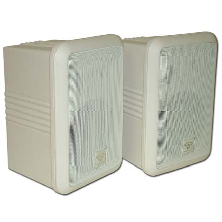 Cerwin Vega SDS-525W-T Pro Audio 5-1/2in Weather Resistant Speakers, pair, white, Includes 50ft of Speaker Wire Free! CER1127