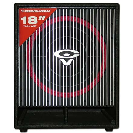 Cerwin Vega CVA-118X 18in subwoofer, Cerwin Vega Active HP, Includes 50ft of Speaker Wire Free! CER1032