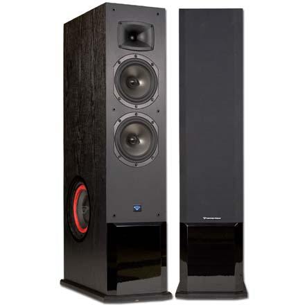 Cerwin-Vega CMX-28 8in 3-Way Floor Powered Speaker, Includes 50ft of Speaker Wire Free! CER1085