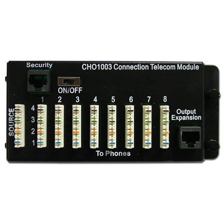 Choice Select 8 Room Phone Distribution Hub for Structured Wiring CHO1003