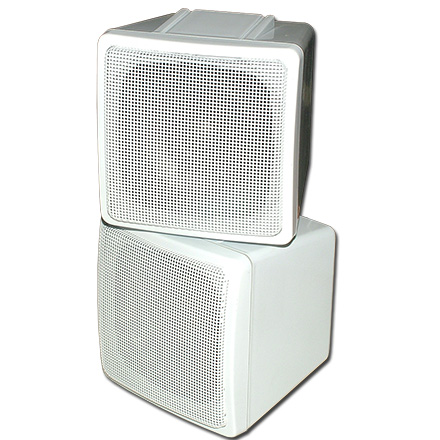 Choice Select 4in Stacked Surround Speaker, White, 8 ohm, each CHO2002W