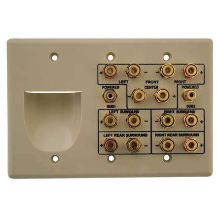 Choice Select Triple Gang 7.2 Home Theater Wall Plate, ivory CHO2004I