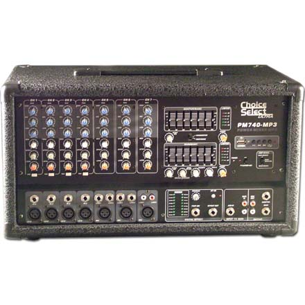 Choice Select Ultra PM-740 Powered 8 Channel Stereo Mixer 200W RMS Per Ch. CHO3074