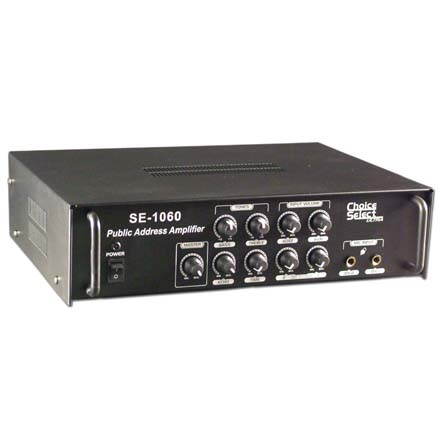 Choice Select Ultra SE1060 PA Amp 45W RMS 2mic/2 Line in 70/100V, Includes a Free Microphone(CHO4030)! CHO3085
