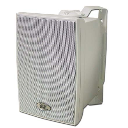 Choice Select 5.25in Weather Resistant  Speakers with Aluminum grill, White, pair CHO6023W