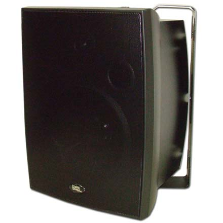 Choice Select 8in Weather Resistant  Speakers with Aluminum grill, Black, pair CHO6027B
