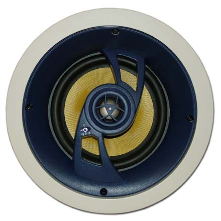 Choice Select Ultra 6.5in 20 Degree Angle Ceiling Speakers with Fiberglass Woofer and Titanium tweeter, pair CHO6067