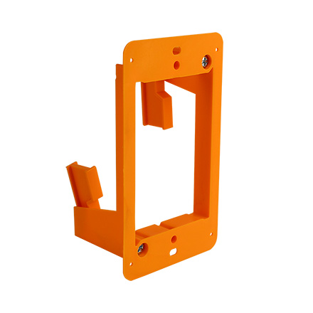 Construct Pro Slim Single Gang Open Back Low Voltage Bracket, each CON1002