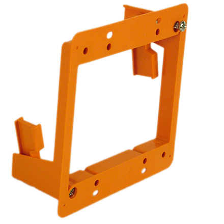 Construct Pro Slim Dual Gang Open Back Low Voltage Bracket, each CON1003