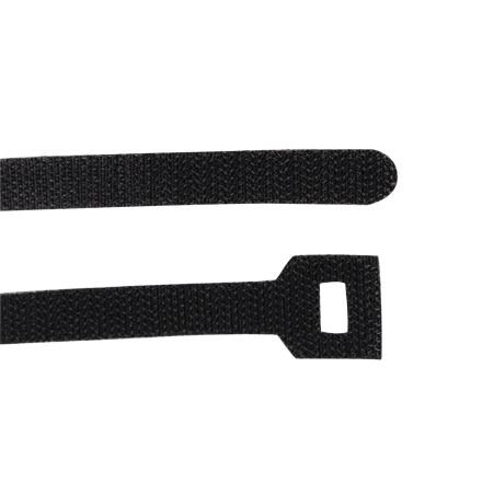 "8"" Velcro cable ties, Black CON1052B"