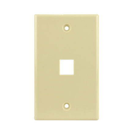 KEYSTONE WALL PLATE FOR 1 CON3001I