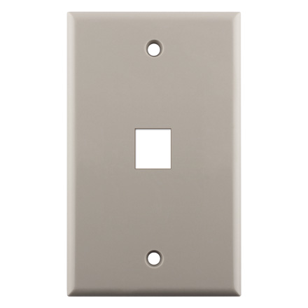 KEYSTONE WALL PLATE FOR 1 CON3001LA