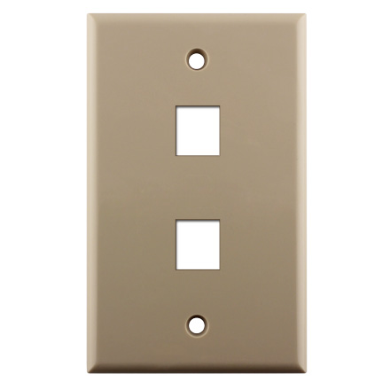 KEYSTONE WALL PLATE FOR 2 CON3002I