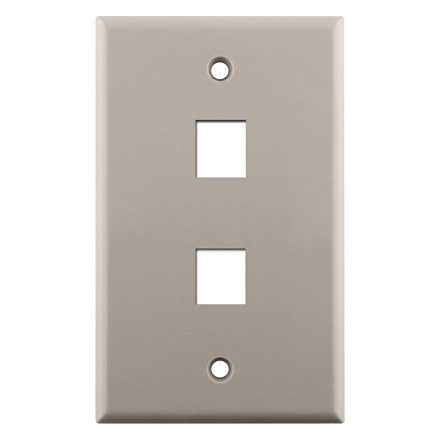 KEYSTONE WALL PLATE FOR 2 CON3002LA
