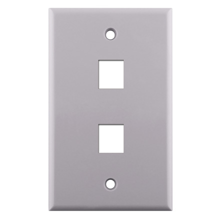 KEYSTONE WALL PLATE FOR 2 CON3002W