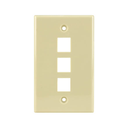 KEYSTONE WALL PLATE FOR 3 CON3003I