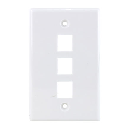 KEYSTONE WALL PLATE FOR 3 CON3003W