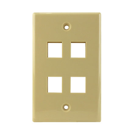 KEYSTONE WALL PLATE FOR 4 CON3004I