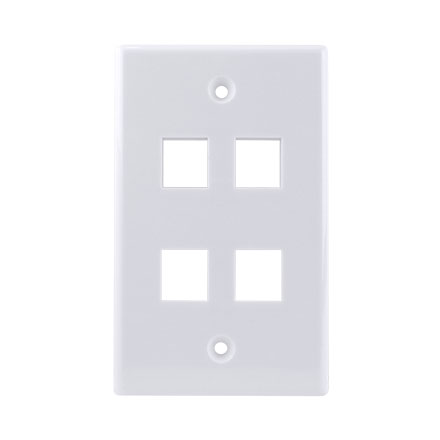 KEYSTONE WALL PLATE FOR 4 CON3004W