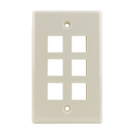 KEYSTONE WALL PLATE FOR 6 CON3006LA