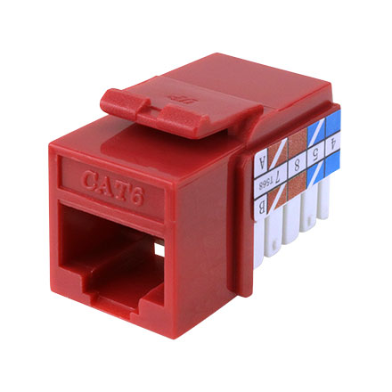 Red K.S. RJ-45 Cat 6 CON3025R
