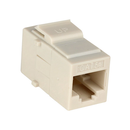 Cat5e pass-through L-ALMOND CON3033LA