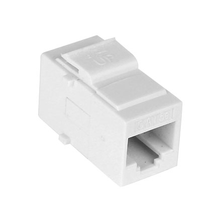 Cat5e pass-through Jack White CON3033W