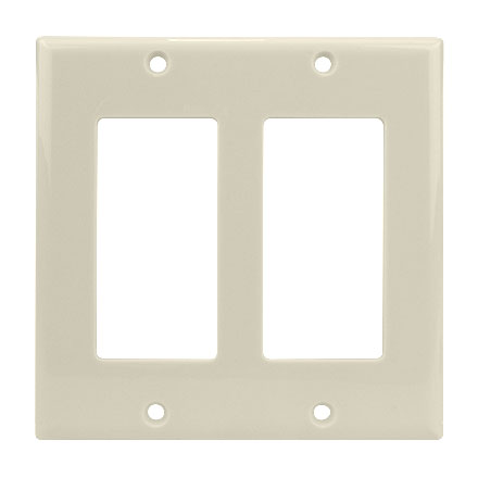 Dual Light Alm. Decora Plate CON3041LA