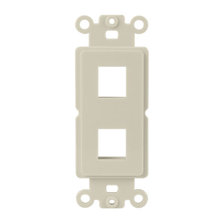 Lgt Almond 2 Port Decora Strap CON3052LA