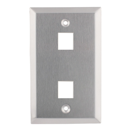 KEYSTONE WALL PLATE 2H/1G SS CON4002SS