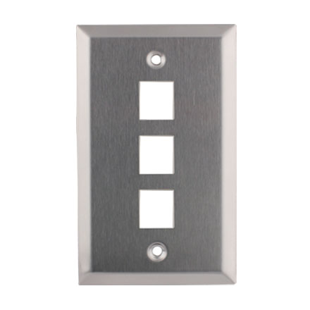 KEYSTONE WALL PLATE 3H/1G SS CON4003SS