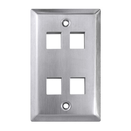 KEYSTONE WALL PLATE 4H/1G SS CON4004SS