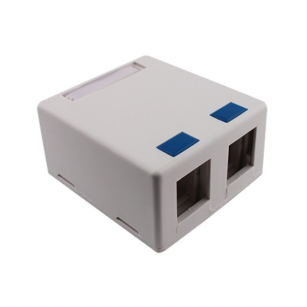 DUAL WHITE SURFACE MOUNT PUNCH CON4040W