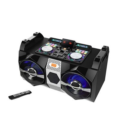 "Edison Professional DJ 1000 High Power 6 5"" Speaker Bluetooth Boom Box with  FM Radio/Dual USB/Remote"
