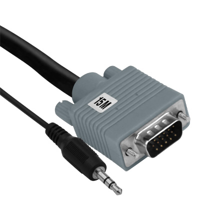15M VGA Cable with 3.5MM ELE2015M