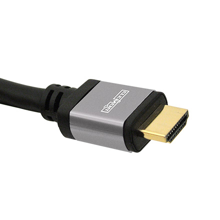 Elementhz 1 meter (3.28ft) HDMI Cable, Round Jacket, Silver End ELE5001M