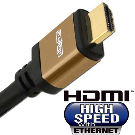 Elementhz 20 meter (65.6ft) HDMI Cable, Round Jacket, Brown End ELE5020M