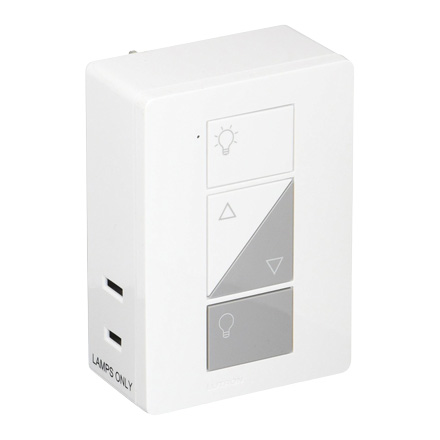 Lutron Wireless Switch >> Lutron Pd 3pcl Wh Caseta Wireless Plug In Lamp Dimmer For 1 2