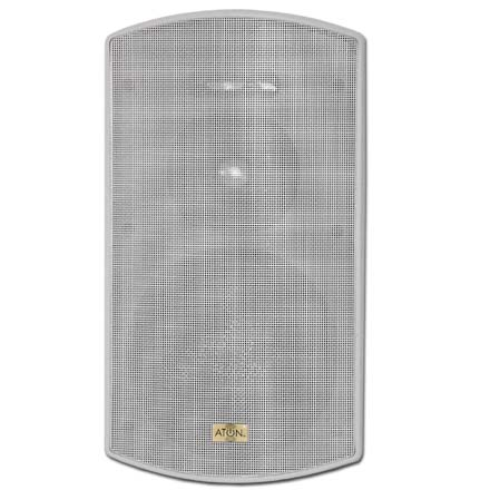 Aton Model O62W 6.25in Outdoor Speakers with Fiberglass Woofer, white, pair O62W