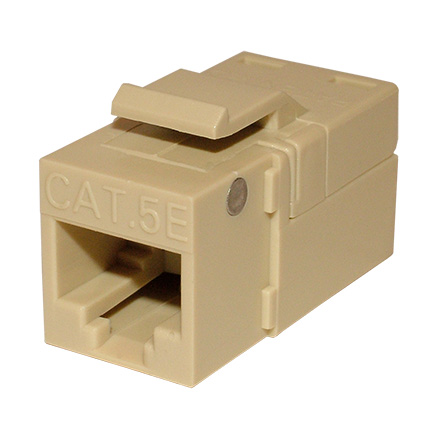 Platinum Tools 705IV-1 EZ SNAPJACK for  Cat5e Keystone, Ivory, each PLA1017