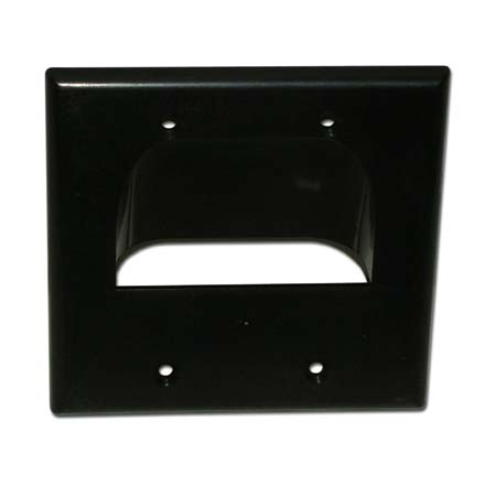 Skywalker Signature Series Inverted Dual Gang Bundled Wall Plate Black SKY05065BD