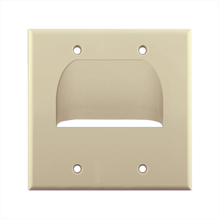 Skywalker Signature Series Inverted Dual Gang Bundled Wall Plate Ivory SKY05065ID