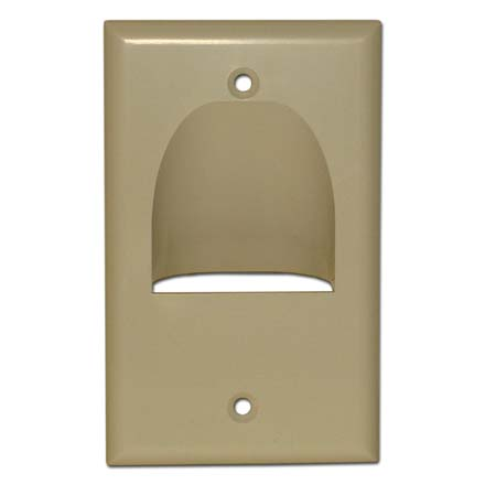 Skywalker Signature Series Inverted Single Gang Bundled Wall Plate Ivory SKY05065IS