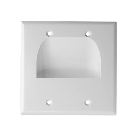 Skywalker Signature Series Inverted Dual Gang Bundled Wall Plate White SKY05065WD