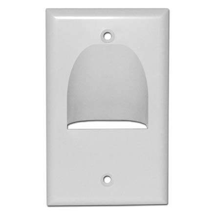 Skywalker Signature Series Inverted Single Gang Bundled Wall Plate White SKY05065WS