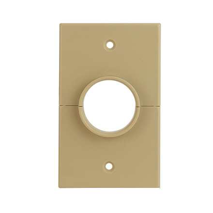Skywalker Signature Series Split Single Gang Plate with 1.375in hole, ivory SKY05066IS